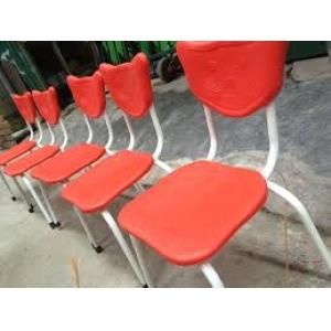 Ghế mặt nhựa chân sắt Mã DK102