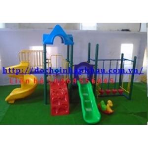 Hệ thống vui chơi liên hoàn cầu trượt soắn Mã DK008-3