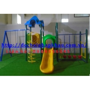 Hệ thống vui chơi liên hoàn cầu trượt thang soắn Mã DK 008-6