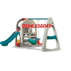 Nhà leo Cầu trượt 2 xích đu Mã DK 001-2